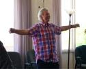 Steven - leading qigong at workshop - albq