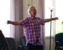 Steven - leading qigong at workshop - albq