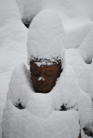 buddha snowman