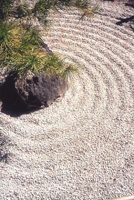 zen garden - sand circles