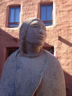 Indian Woman - Santa Fe sculpture - turned