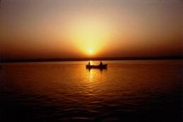 Early morning - Varinasi Ganga River - 1997