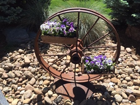 wagon wheel - repurposed